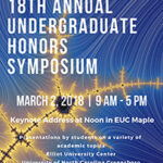 Honors Symposium flyer