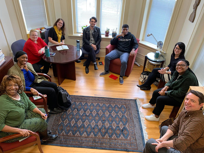 Circular group of students